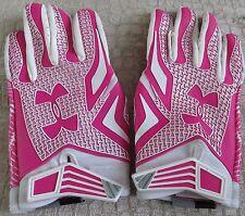 **Notre Dame Football PINK Team Issued Game Worn Under Armour Gloves - Size XXL