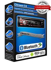 Citroen C4 DEH-4700BT car stereo, USB CD MP3 AUX In Bluetooth kit
