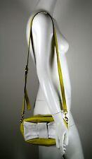 DIMONI Yellow And White Bow Leather Messenger Handbag