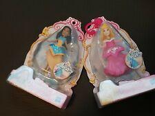 2 Disney Princesses Pocahontas & Aurora Royal Clips Dolls New Sealed Packages