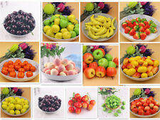 10PCS Artificial Fake Foam Fruits Faux food Model House Kitchen Party Decor