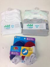 Child of Mine Carters Short Sleeve and long sleeve Bodysuits & SMALL socks NWT