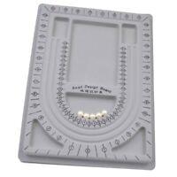 Perlenbrett Perlsortierbrett Fädelmatte für Perlen Halskette Schmuck Design DIY