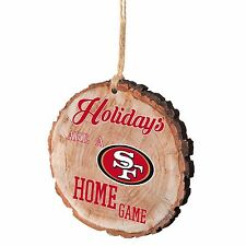 San Francisco 49ers Christmas Tree Ornament Stump New - Holidays are a Home Game
