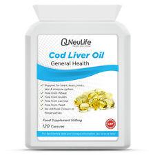 Cod Liver Oil - 550mg -120 Capsules