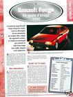 Renault Fuego 4 Cyl. 1980 France Car Auto Voiture FICHE FRANCE