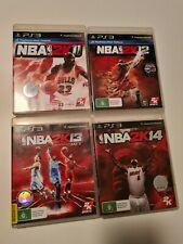 NBA 2K PS3 Bulk Video Game Lot: 2K11, 2K12, 2K13, 2K14 Sony Playstation