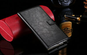Luxury Premium Crazy Horse Leather Flip Case Wallet Cover iPhone Models,Real Pic