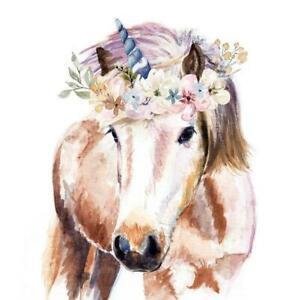 4 individual pretty unicorn decoupage napkins, scrapbooking, mixed media, craft