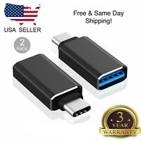 2-Pack USB C Adapter Hi-speed USB-C to USB-A 3.0 for USB Type-C Devices