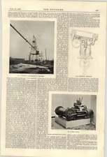 1900 Temperley Coal Transporter Electric Supply Deptford Winch Engine Traveller