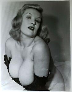 Vintage Silver Gelatin Photo Bettie Page 50s Era Model Paula Page Breast Nipples