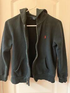 Ralph Lauren Polo Big Boys Full Zip Hoodie size M(10-12) Black
