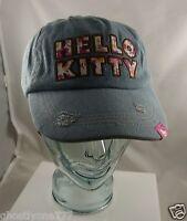 Hello Kitty denim Baseball hat cap Sanrio cute flowers