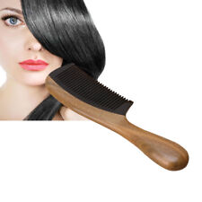 Natural Green Sandalwood Ox Horn Wood Anti Static Hair Beard Comb Care Handle
