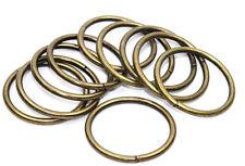 O-Ringe-Rundringe 10 Stück, Ø 40mm *Altmessing* für 40mm Gurt/Band geeignet