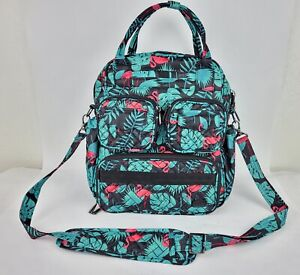 Lug Mini Puddle Jumper Quilted Day Bag Flamingo Black
