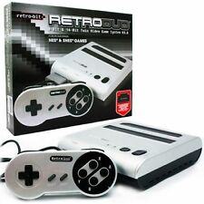 Retro-Bit Retro Duo Twin Video Game System, Silver/Black New