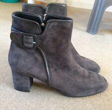LK BENNETT grey suede ankle boots NWOB size 7.5 EU 41