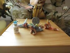 3 Fairy Garden Micro Mini fairy figurines with Free Fairy Dust These are tiny!