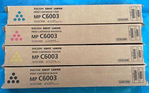 Ricoh Genuine Toner Set C6003 - CMYK 841849 841850 841851 841852