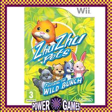 ZhuZhu Pets Featuring the Wild Bunch Zhu Zhu (Nintendo Wii) Brand New