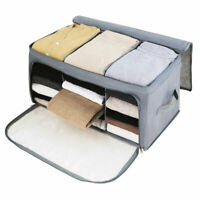 Underbed Clothes Storage Bags Ziped Organizer Wardrobe Cube Closet Boxes Durable