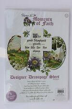 Papermania Decoupage Moments of Faith Lord God Shepherd for sympathy card making