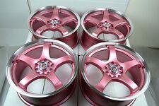 17 Drift pink Rims Wheels Miata Jetta Corolla Civic Optima Elantra 5x100 5x114.3