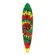 Yocaher Pintail Tiedye Rasta Longboard Deck