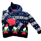 Boy's Toddler's JUNGLE & JOY Holiday Party Ugly Christmas Sweater Sz 12 Mos.A941
