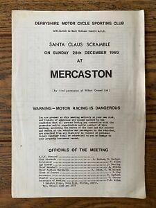 1969 SCRAMBLE PROGRAMME MERCASTON DERBYSHIRE MOTOCROSS MALCOLM RATHMELL GREEVES
