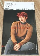 EXO For Life WINTER SPECIAL SMTOWN COEX Artium SUM GOODS BAEKHYUN PHOTO CARD SET