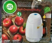 Air Wick Essential Mist Apple Cinnamon medley Oil & Diffuser white