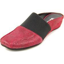 Mocassini e ballerine da donna pantofole in camoscio rosso
