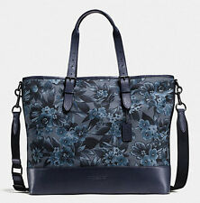 NEW COACH Men's floral flower Print Large Travel briefcase Tote Messenger bag