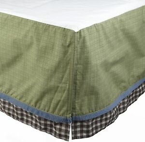 Cocalo Kids Sports Fan Twin Dust Ruffle Bedskirt Green NIP