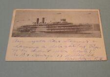 1911 Hudson River Dayline Steamboat Hendrick Hudson Real Photo RPPC Postcard