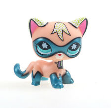 littlest Pet shop Figure Toy super hero Comic Con Cat Kitten Kitty Blue Eyes