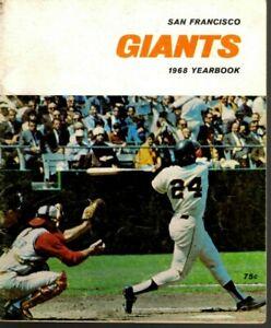 1968 San Francisco Giants Baseball YB magazine Willie Mays, Willie McCovey ~Fair