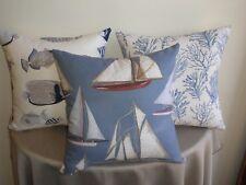 Beach Sea Sail Boat Old Yachts Coastal Theme Cushion Covers 30x50/45cm Au Made