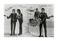 The Beatles (4) A4 signed photograph poster. Choice of frame.