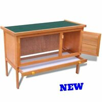 Pet Rabbit Hutch Small Animal Guinea Pig House Cage Outdoor Yard Farm Kennel NEW