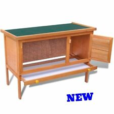Small Rabbit Hutch Animal Pet Run Guinea Pig Cage Outdoor Yard Farm Kennel House