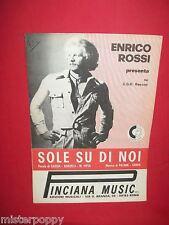ENRICO ROSSI Sole su di noi 1972 Raro Spartito