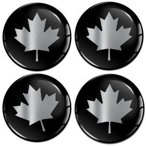 4 x 65mm Canada Kanada Silber Aufkleber für Nabendeckel Felgendeckel Nabenkappen