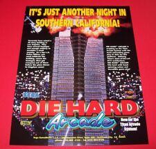 DIE HARD ARCADE 1996 Original NOS Video Arcade Game Promo Sales Flyer Titan SEGA