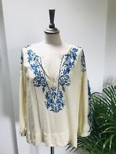 Rabens Saloner Stunning Embroidered Cream  Blouse Small BNWT