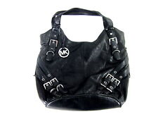 "MICHAEL KORS MILO LARGE SHOULDER TOTE BLACK LEATHER SIZE 14""(H) X 15""(W) X 5""(D)"