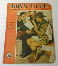 February 1943 BOYS LIFE ~ Norman Rockwell Boy Scout Cover